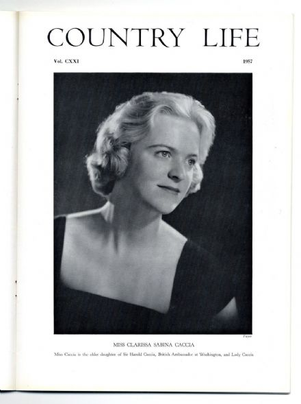 1957 COUNTRY LIFE Magazine 25 April CLARISSA SABINA CACCIA Elton Hunts (5413)